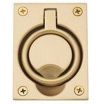Baldwin 0395 2-1/2 Inch x 3-3/10 Inch Flush Ring Pull