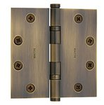 Baldwin 1046.INRP 4.5 Inch x 4.5 Inch Solid Brass Ball Bearing Non-Removable Pin Full Mortise Hinge with Square Corners