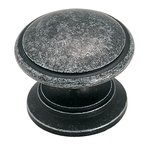 """Amerock BP1466WID Wrought Iron Dark 1 1/4"""" Knob from the Hint of Heritage Collection product"""