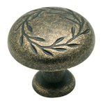 "Amerock BP1581R2 Weathered Brass 1 1/4"" Knob from the Inspirations Collection product"