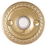 Emtek 2401 Brass Doorbell Button with Rope Rosette
