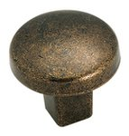 """Amerock BP4425R3 Rustic Brass 1 1/4"""" Knob from the Forgings Collection product"""