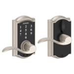 Schlage FE695 CAM/ACC Camelot Touch Screen Leverset with Accent Lever
