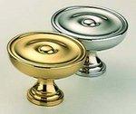Omnia 9136/25 1 Inch Diameter Solid Brass Knob