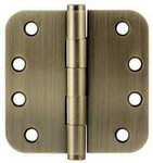 Emtek 96234 4 Inch x 4 Inch Heavy Duty Solid Brass Hinge with 5/8 Inch Radius Corners (Sold in Pairs)