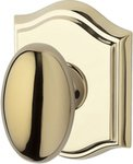 Baldwin HD.ELL.TAR Reserve Ellipse Single Dummy Knob with Traditional Arch Rosette