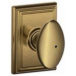 Schlage F40SIE/ADD Siena Privacy Knobset with Addison Decorative Rosette