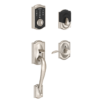Schlage FE375 CAM/ACC RH Camelot Touch Screen Handleset with Accent Lever for Right Handed Doors