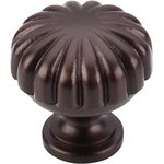 """Top Knobs M756 Melon Knob 1 1/4"""" - Oil Rubbed Bronze  from the Oil Rubbed Collection"""