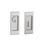 Baldwin PD006.ENTR Small Santa Monica Keyed Pocket Door Mortise Lock product