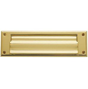 Baldwin 0017 10 Inch x 3 Inch Double Flap Letter Box Plate