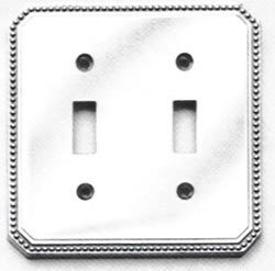 Omnia 8004/D Double Toggle Switch Plate