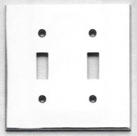 Omnia 8012/D Modern Double Toggle Switch Plate