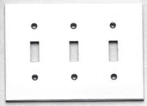 Omnia 8012/T Modern Triple Toggle Switch Plate