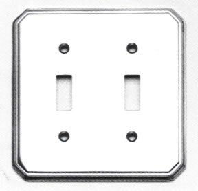 Omnia 8014/D Traditional Double Toggle Switch Plate