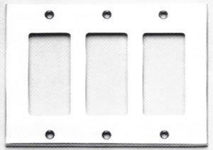 Omnia 8023/T Modern Triple GFI Switch Plate
