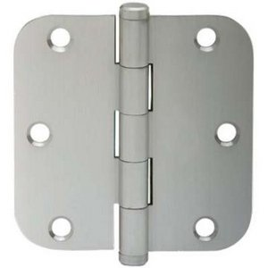 Ives 1011F 3-1/2 Inch x 3-1/2 Inch Steel Hinge with 5/8 Inch Radius Corners (Sold Each)