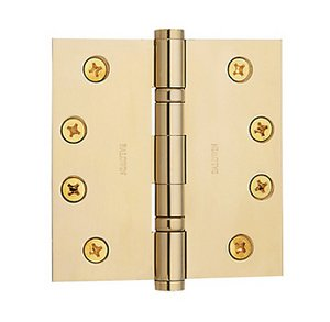 Baldwin 1041.I Estate 4 Inch x 4 Inch Solid Brass Ball Bearing Full Mortise Hinge with Square Corners (Sold Each)