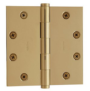 Baldwin 1045.I Estate 4.5 Inch x 4.5 Inch Solid Brass Full Mortise Hinge with Square Corners (Sold Each)