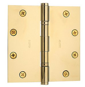Baldwin 1051.I Estate 5 Inch x 5 Inch Solid Brass Full Mortise Ball Bearing Hinge with Square Corners (Sold Each)