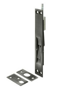 Deltana 12EFB 12 Inch Solid Brass Square Edge Extension Flush Bolt