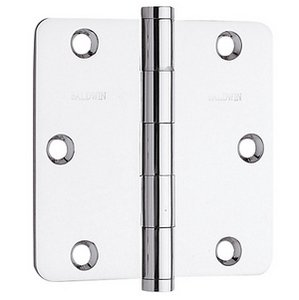 Baldwin 1435.I Estate 3.5 Inch x 3.5 Inch Solid Brass Full Mortise Hinge with 1/4 Inch Radius Corners (Sold Each)