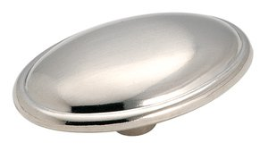 "Amerock 14408SCH Brushed Chrome 1 11/16"" Oversized Knob from the Allison Collection"