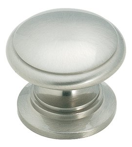 """Amerock BP1466G10 Satin Nickel 1 1/4"""" Knob from the Hint of Heritage Collection"""