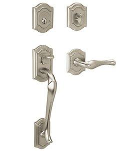 Baldwin 85327.RENT Estate Bethpage Single Cylinder Handleset for Right Handed Doors