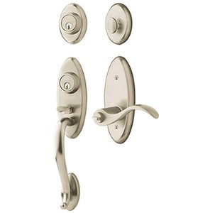 Baldwin 85345.2DCR Estate Landon Double Cylinder Two Point Handleset for Right Handed Doors