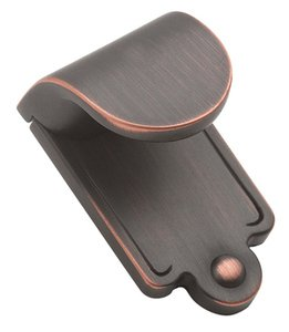 """Amerock BP1593ORB Oil-Rubbed Bronze 1 7/8"""" Finger Pull from the Inspirations Collection"""