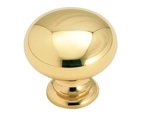 "Amerock BP1950B Polished Solid Brass 1 1/4"" Knob from the Allison Collection"