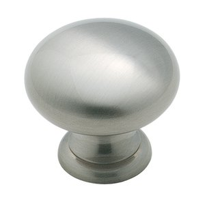 """Amerock BP1950G10 Satin Nickel 1 1/4"""" Knob from the Allison Collection"""