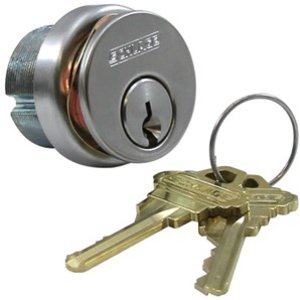 """Schlage 20-001 C123 1-1/4 Inch Mortise Cylinder with Everest """"C123"""" Keyway"""