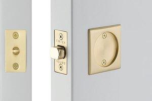 Emtek 2134 Square Tubular Passage Pocket Door Lock