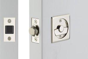 Emtek 2135 Square Tubular Privacy Pocket Door Lock