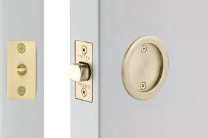 Emtek 2144 Round Tubular Passage Pocket Door Lock