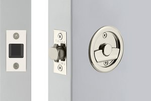 Emtek 2145 Round Tubular Privacy Pocket Door Lock