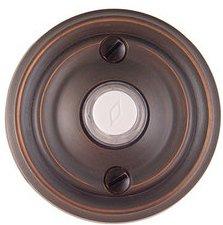 Emtek 2400 Brass Doorbell Button with Regular Rosette