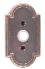 Emtek 2411 Lost Wax Cast Bronze Doorbell Button with #11 Rosette