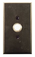 Emtek 2423 Sandcast Bronze Doorbell Button with #3 Rosette