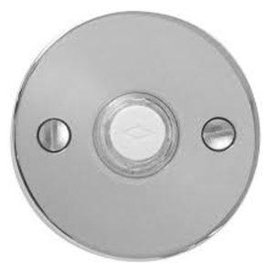 Emtek 2458 Brass Doorbell Button with Disk Rosette