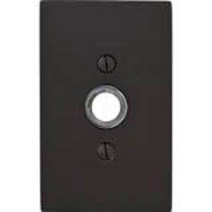 Emtek 2463 Brass Doorbell Button with Modern Rectangular Rosette