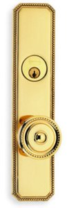 Omnia D25430AC Double Cylinder Deadbolt Entry Set for 3-5/8 Inch Door Prep