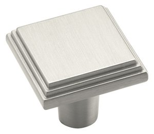 """Amerock BP26117G10 Satin Nickel 1"""" Knob from the Manor Collection"""