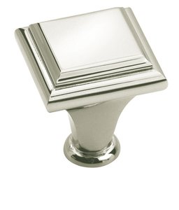 "Amerock BP26131PN Polished Nickel 1"" Square Knob from the Manor Collection"
