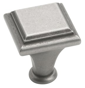 """Amerock BP26131WN Weathered Nickel 1"""" Square Knob from the Manor Collection"""