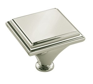 """Amerock BP261392PN Polished Nickel 1 3/7"""" Oversized Knob from the Manor Collection"""