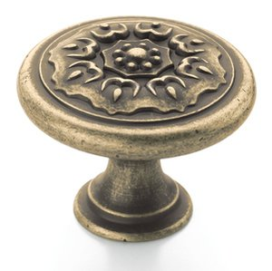 """Amerock BP27030R2 Weathered Brass 1 1/4"""" Knob from the Sundara Collection"""