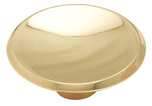 """Amerock BP34143 Polished Brass 1 3/4"""" Oversized Knob from the Allison Collection"""